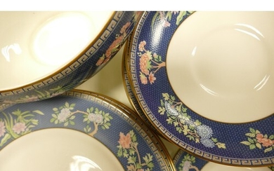 A large collection of Wedgwood Blue Siam tea and dinner ware...