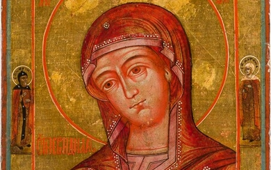 AN ICON SHOWING THE 'FIRE-APPEARING' MOTHER OF GOD (OGNEVIDNAYA) Russian,...