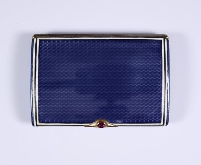 An Early 20th Century Russian Silver Gilt and Blue...