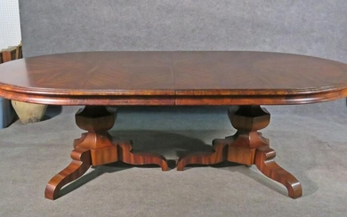 CONTINENTAL MARQUETRY INLAID DINING TABLE