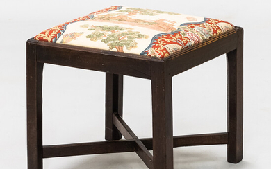 Chippendale-style Mahogany Stool