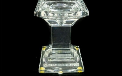 Crystal Pillar Candle Holder, Unmarked