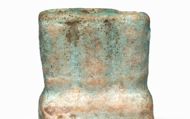 Egyptian Faience Green Glazed Composition Amulet Vessel - 3.8×0×0 cm