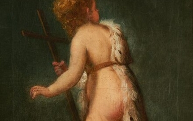 Italian School O/C, Painting of a Putto