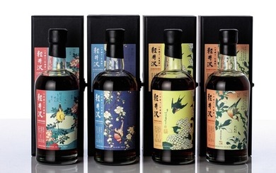 輕井澤花鳥系列 Karuizawa Single Sherry Cask 18 Year Old Flower and Bird Series Set 2000 (4 BT70)