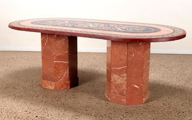 MARBLE DINING TABLE.