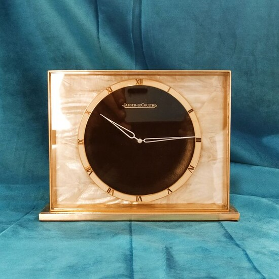 Mantel clock - Jaeger Le Coultre - Brass, Mother of pearl - Mid 20th century