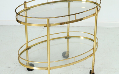 Maxwell Phillips, NY brass serving cart