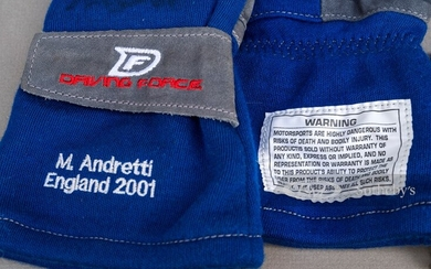 Michael Andretti Race Worn and Signed Gloves