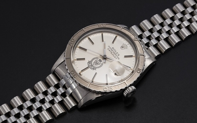 ROLEX, A STEEL OYSTER PERPETUAL DATEJUST MADE FOR THE BAHRAIN MINISTY OF INTERIOR, REF. 16250