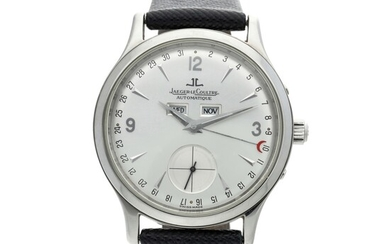 Reference 140.8.87 Master Control A stainless steel triple calendar wristwatch, Circa 2004, Jaeger LeCoultre