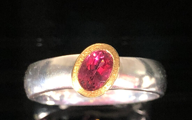 Ring with pink tourmaline.