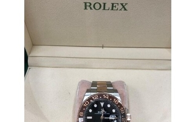 Rolex GMT-Master II Rootbeer Rose Gold Oyster Perpetual 1267...