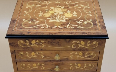 Superb Inlaid Jewelry Box With Reuge Music Movement