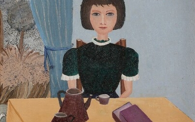 Suzanne DUFOING (born in 1930)The BreakfastOilon canvas.Signed lower right.Titled on the back on the frame.40 x 30 cm