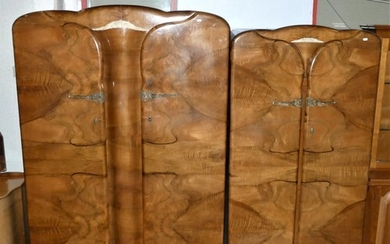 Two Art Deco style walnut robes by Supersuite (circa 1960) c...