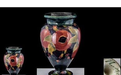 William Moorcroft Signed and Dated Hand Painted Shaped Vase ...