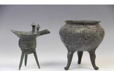 A Chinese bronze tripod censer of small proportions, early 1...