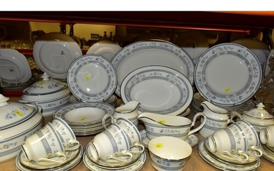 A MINTON PENROSE DINNER SERVICE, comprising eight 27cm plate...