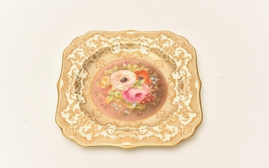 A ROYAL DOULTON CABINET PLATE PAINTED BY P CURNOCK FOR TIFFANY AND CO, NEW YORK (20 CM H), LEONARD JOEL LOCAL DELIVERY SIZE: SMALL