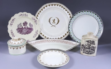 A Small Collection of English Creamware Pottery, Late 18th/Early...