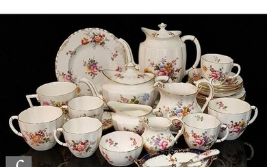 A collection of Royal Crown Derby Derby Posies teawares comp...