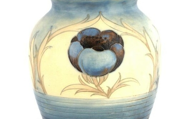 AN UNUSUAL MOORCROFT OVOID SHOULDERED VASE with ba