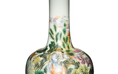 Chinese Famille Rose Tianqiu Vase, Late 19th Century