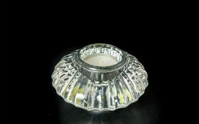Crystal, Circular Candle Holder, Unmarked