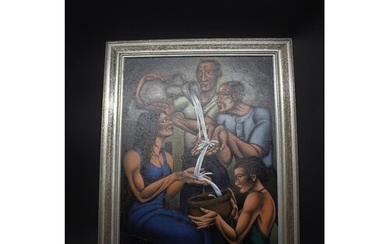 DAVID BROOKE - 'THE CEREMONY OF WASHING HANDS' signed and da...