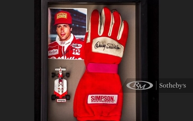 Danny Sullivan Race Worn and Signed Gloves