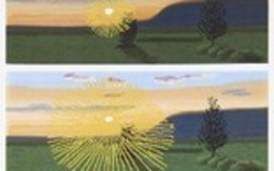 David Hockney OM CH RA, British b.1937- Remember You Cannot Look at The Sun or Death For Very Long, 2021; lithographic poster with screenprint overlay in colours on 170gsm wove, numbered 2711/3000 in black marker to Circa sticker verso, published...