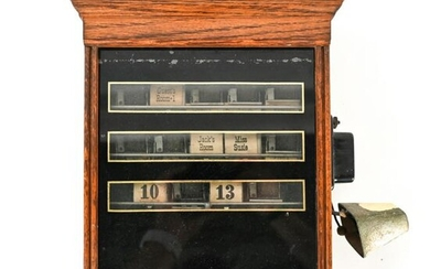 EARLY 20TH C. BUTLERS CALL BOX