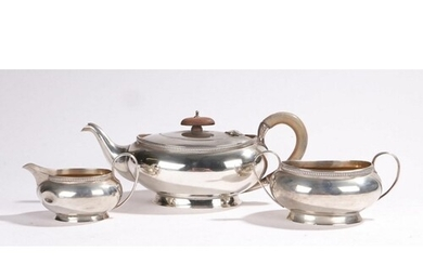 George V silver tea set, Birmingham 1932, maker Adie Brother...