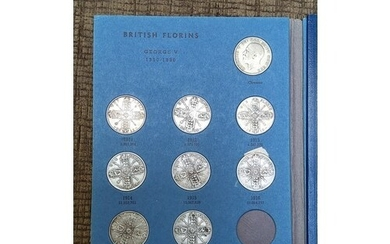 Great Britain Florins collection 1911 to 1940. Missing two d...
