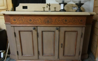 Italian Style Marble top Vanity with copper sink