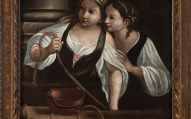Italian school of the seventeenth century. Girls in the stable.