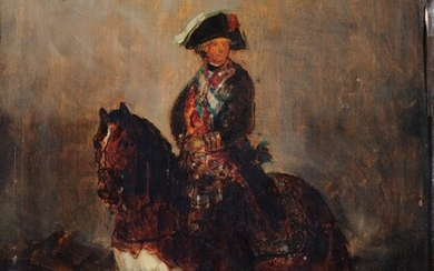 Mariano Fortuny after Francisco de Goya, Equestrian portrait of Charles IV (1748-1819)   Mariano Fortuny d'après Francisco de Goya, Portrait équestre de Charles IV (1748-1819), Mariano Fortuny after Francisco de Goya, Equestrian portrait of Charles IV...