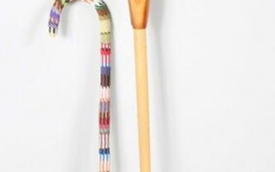 Native American Decorated Carved Cane