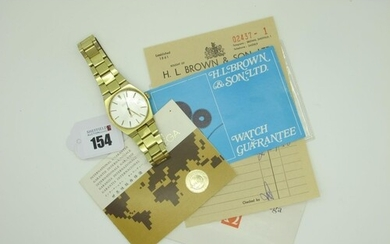 Omega; A 1970's Gold Plated Automatic Gent's Wristwatch, (MD...
