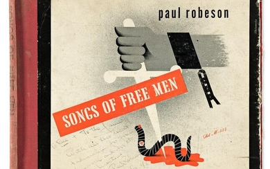 ROBESON, PAUL. Record cover for his Songs of Free Men