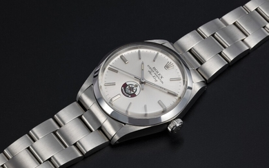ROLEX, A STAINLESS STEEL AIR-KING WITH QATAR ARMED FORCES LOGO, REF. 5500