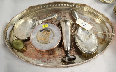 Selection of silver and plated wares