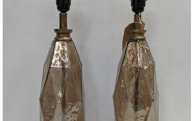 TABLE LAMPS, a pair, 1970s Italian style, 44cm H (2)