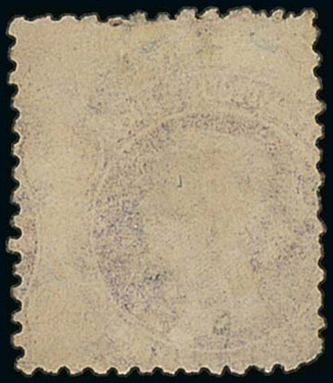 Tasmania 1857-67 watermark double-lined numeral 4d. pale blue printed both sides, the second i...