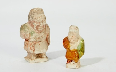Two Chinese pottery figures