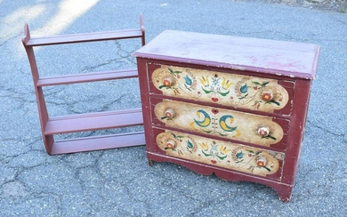 Victorian Painted Pine Cottage Chest of Drawers