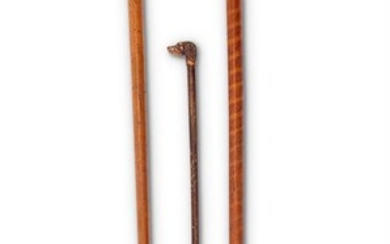 Y A STAGS HORN AND MALACCA CANE