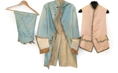 A 19th Century Gentleman's Pale Blue Silk Suit, in the...