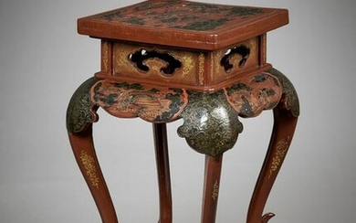 A LACQUERED INCENSE STAND, XIANGJI, MID-QING
